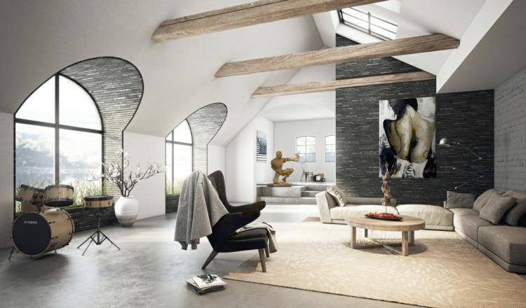 Einrichtung Ideen Modern Blau Sofa Wohnzimmer Ohne Fernseher Dekoo