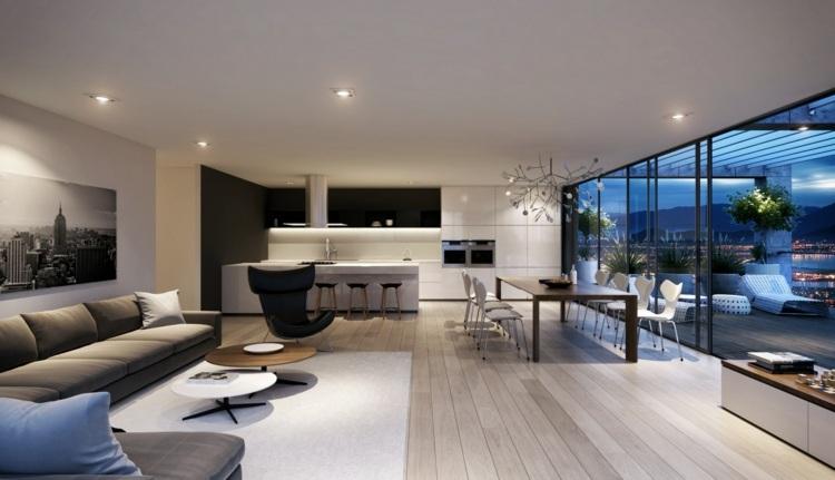 einrichtung ideen modern blau sofa wohnzimmer ideen ohne fernseher, Wohnzimmer dekoo