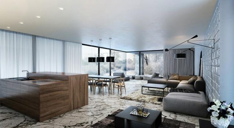 Wohnzimmer ohne Fernseher einrichten  Ideen fr die Raumgestaltung