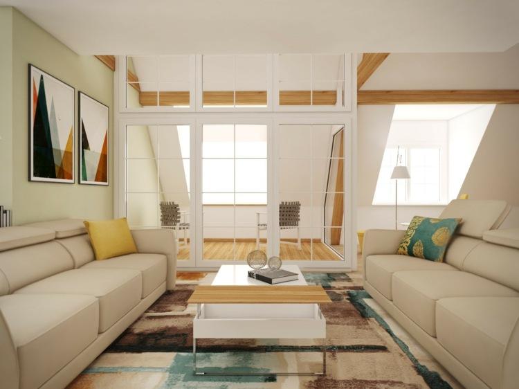 wohnzimmer ohne fernseher einrichtung ideen modern blau sofa, Wohnzimmer dekoo