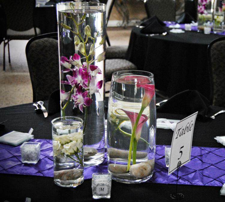 Tischdeko Blumen Im Glas Unter Wasser  Wohndesign