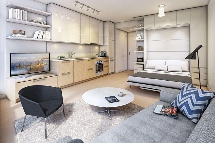 kleine wohnung einrichten dekoration wohndesign. Black Bedroom Furniture Sets. Home Design Ideas
