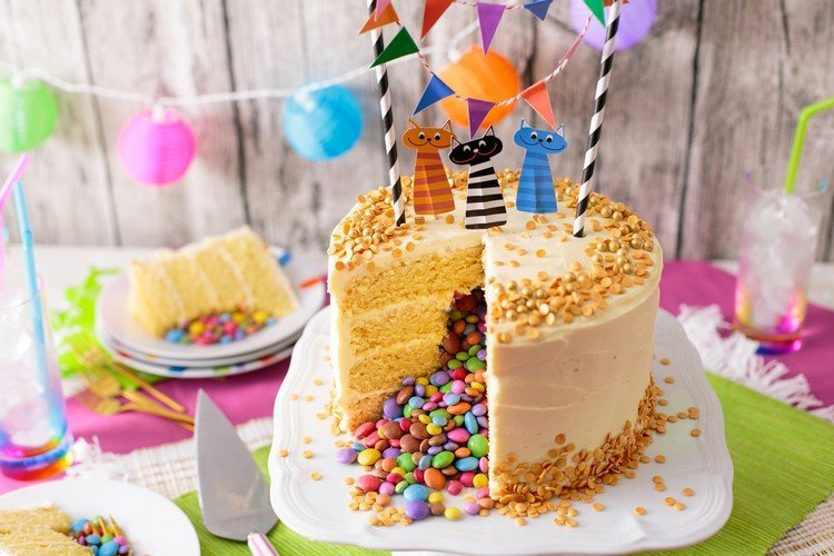 Kuchen mit berraschung drin selber machen  20 ausgefallene Ideen