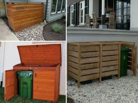 holz ideen zum selber bauen mülltonnenbox selber bauen - günstige ideen für einen