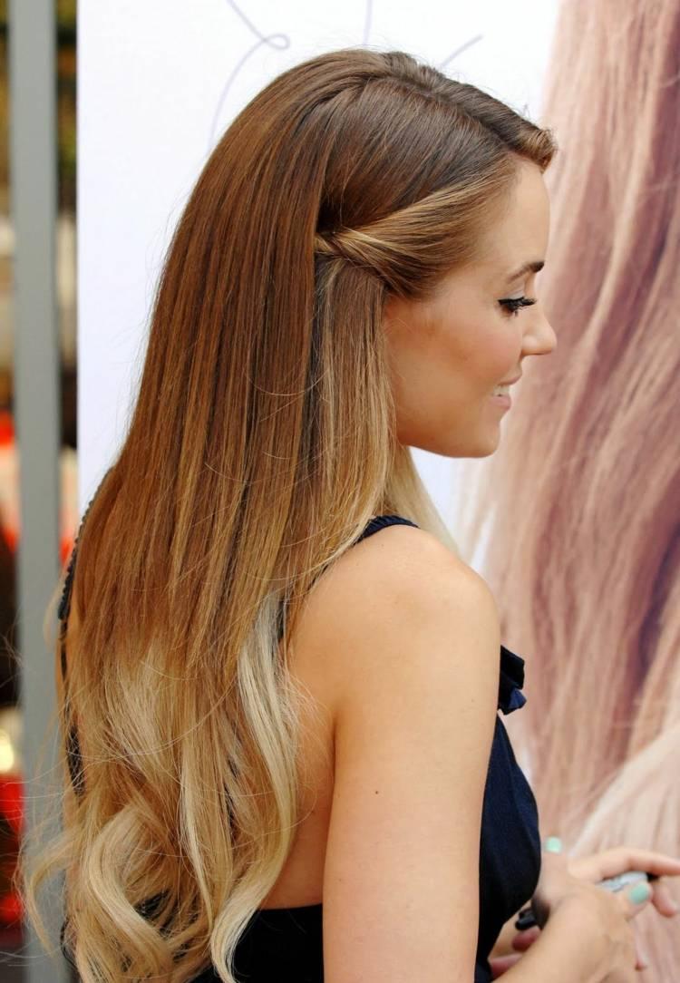 Ombre Haare Färben Ideen Für Ombre Blond Brünett Und Bunte