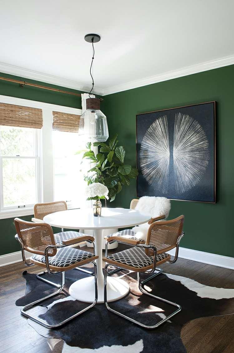 Wandfarbe Schlafzimmer Dunkel Ideen Grun Blau Streifen Graue Grau