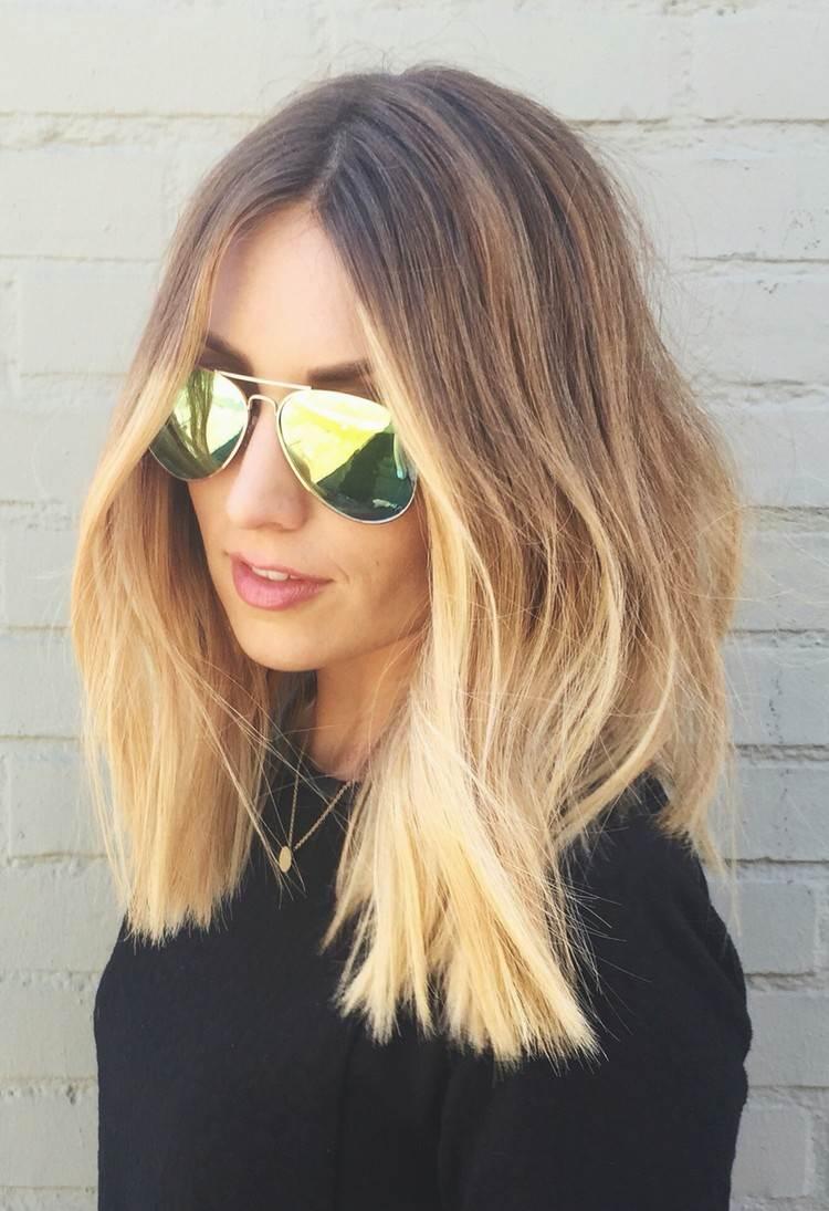 ▷ Ombre Blond Für Braune Und Blonde Haare Färbetechniken Im Trend