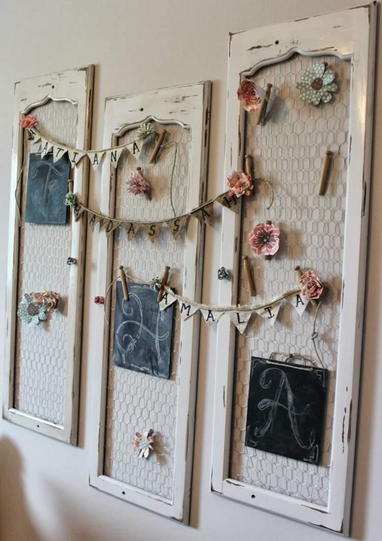 shabby chic wanddeko wanddekoration rosa. Black Bedroom Furniture Sets. Home Design Ideas