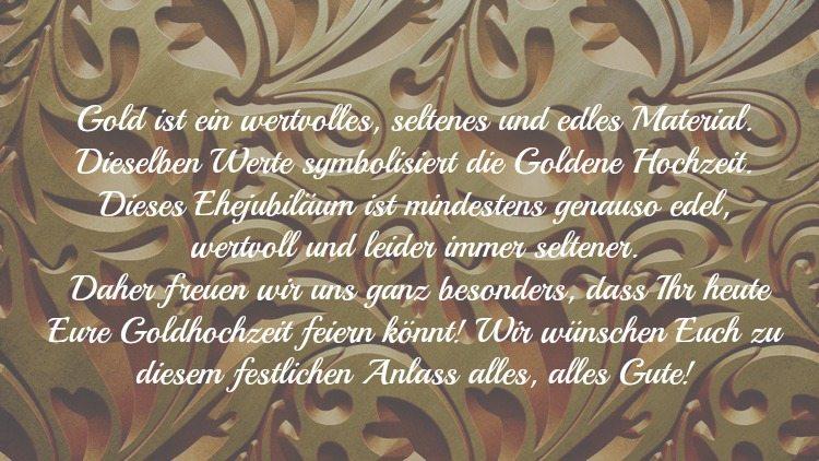 Glückwunschtext Goldene Hochzeit Goldene Hochzeit 50