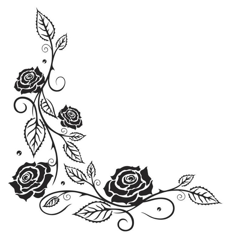 Tattoo Vorlagen Rosenranke