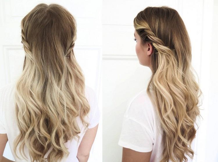 Frisur Halboffene Haare  Friseur