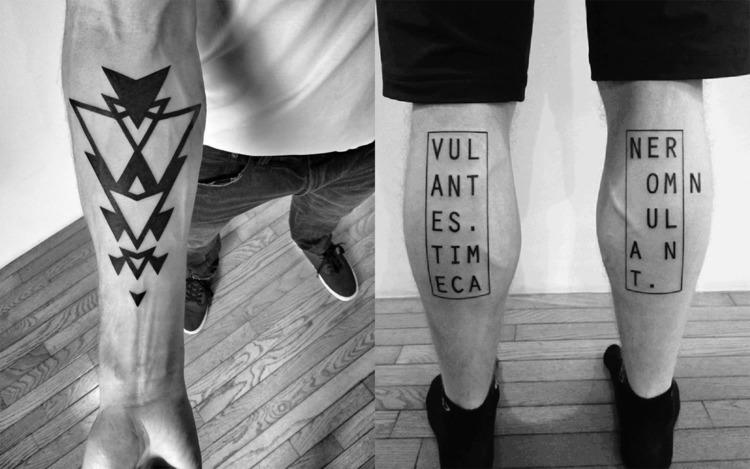 Das Blackwork Tattoo fr ein schlichtes und doch