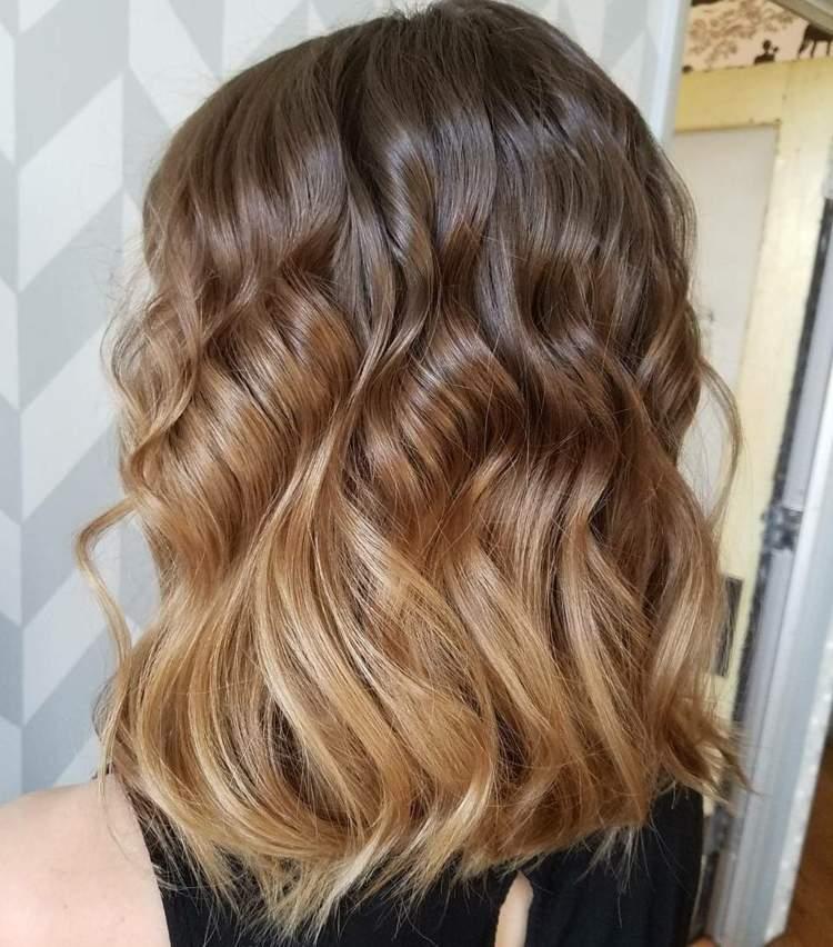 Ombre Hair Braun Blond Kurze Haare Frisuren Trend