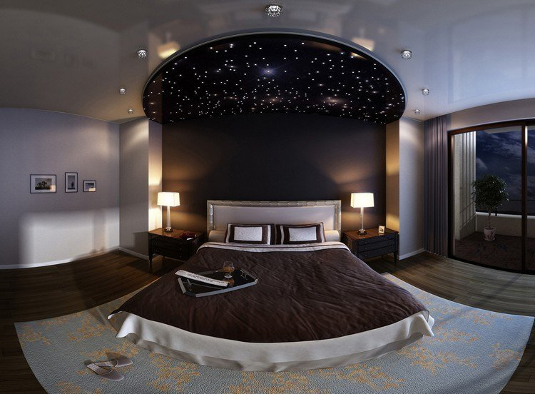 Sternenhimmel mit LED Glasfasern gestalten fr bezaubernde