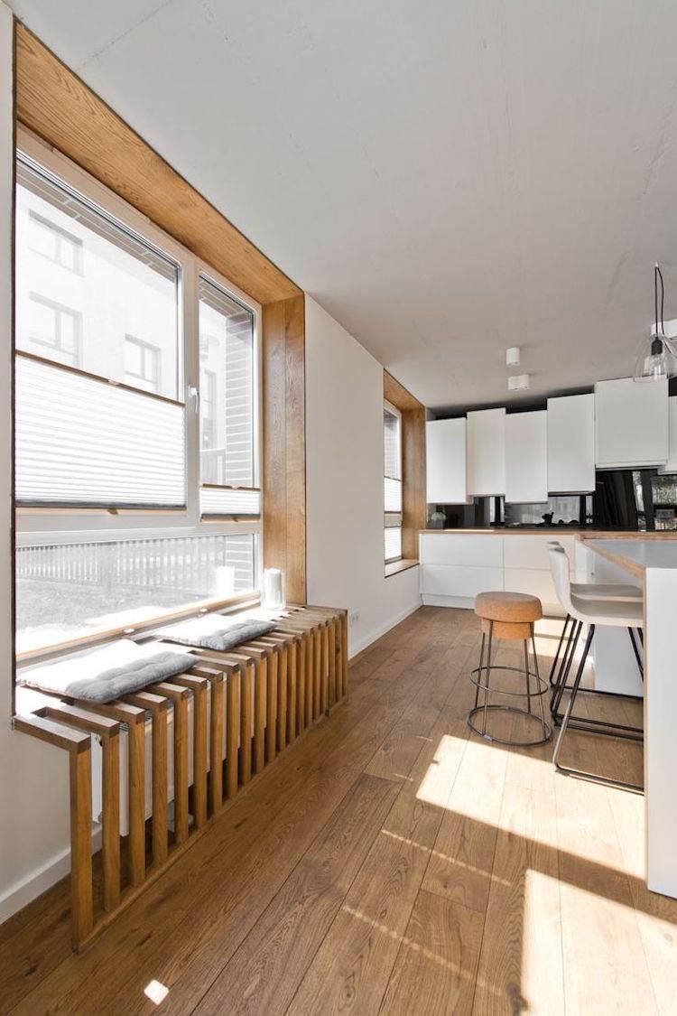 Fenster Sitzbank Ein Traditionelles Wohnzimmer Fenster Mit