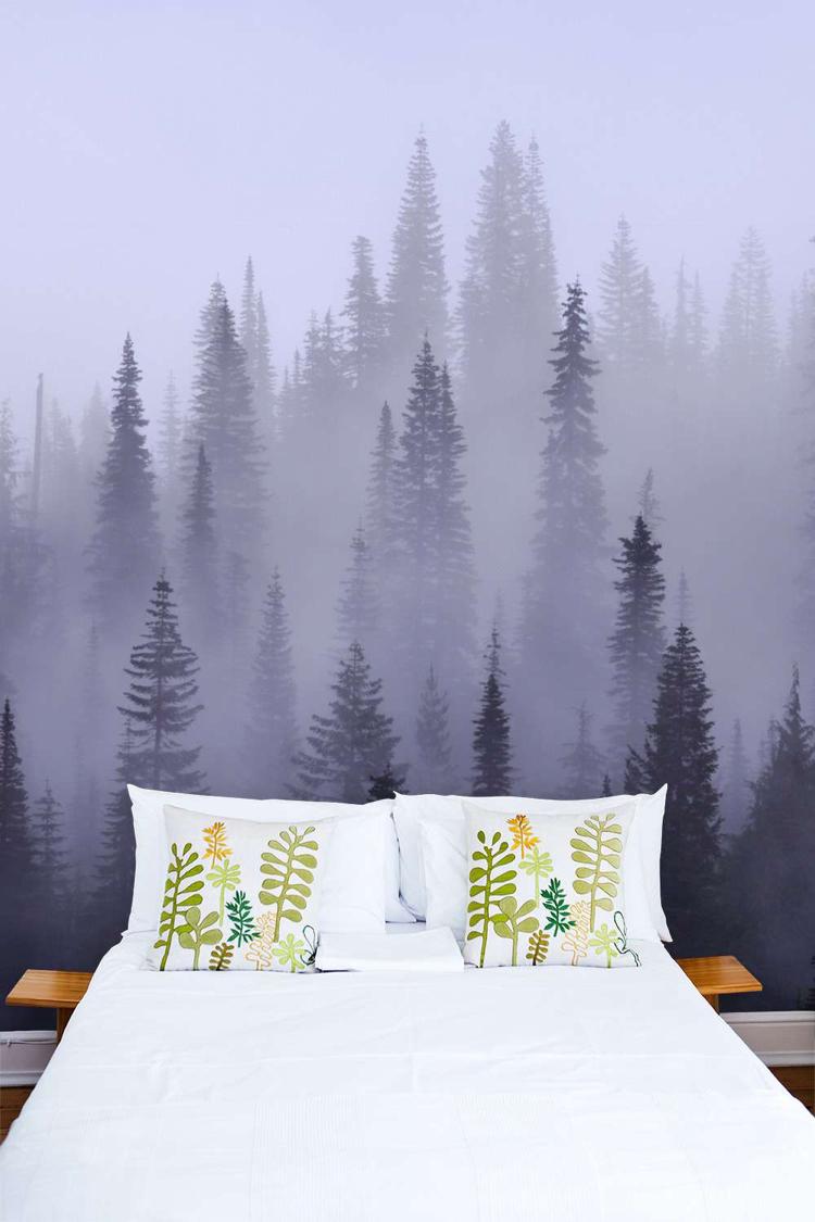 Fototapete Wald im Schlafzimmer  Ideen fr wundervolle