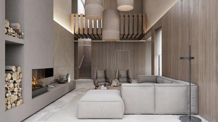 Minimalistisch einrichten  moderne Wohnzimmer mit reduziertem Design