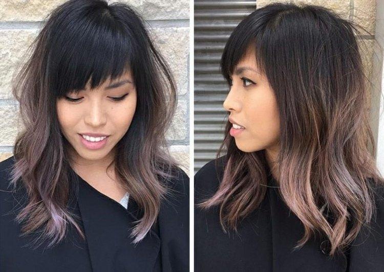 Chocolate Mauve Farbe Als Haartrend Für Ein Bezauberndes Herbst Styling