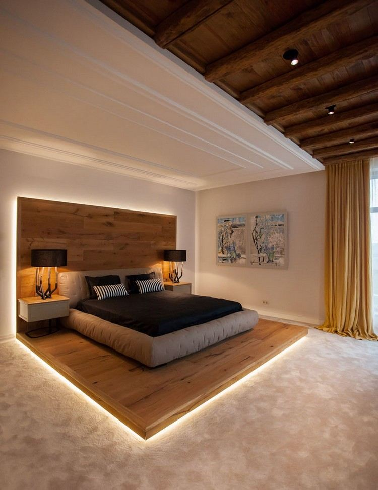 Fantastisch Schlafzimmer Design Mit Holz 22 Einrichtungsideen Mit