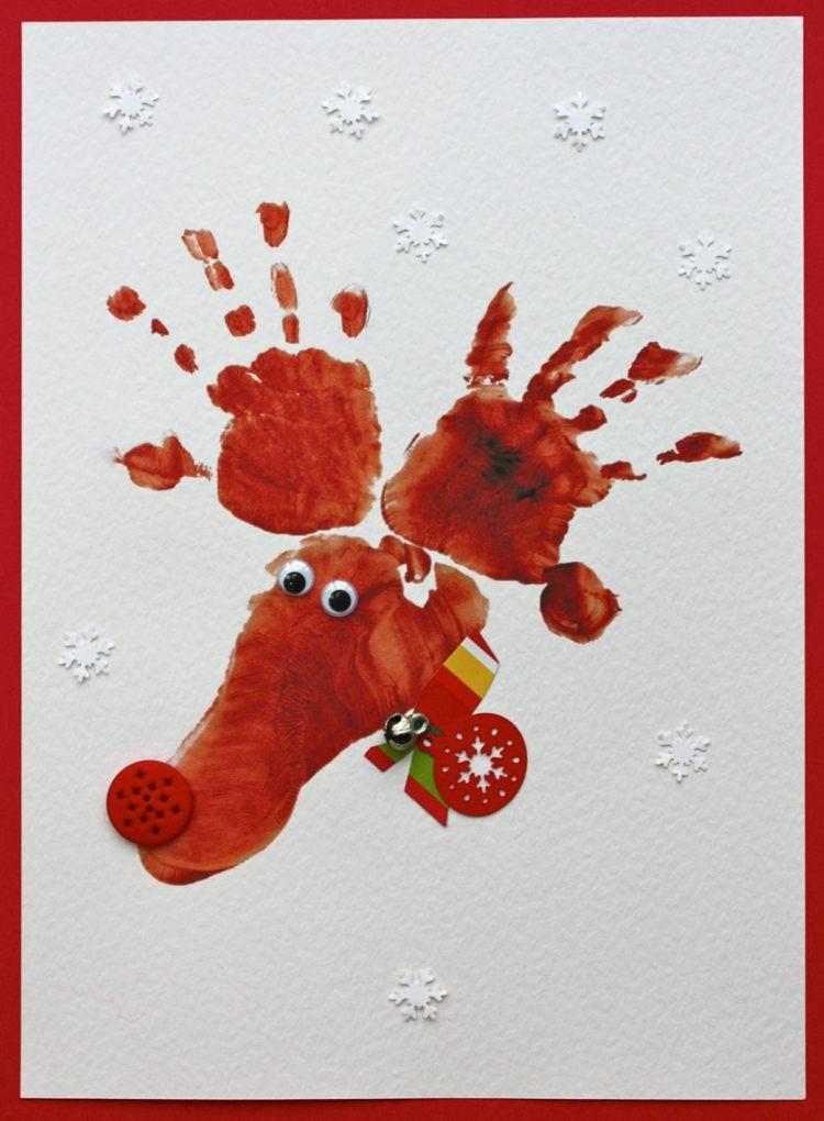 So Knnen Sie Weihnachtskarten Basteln Mit Kindern