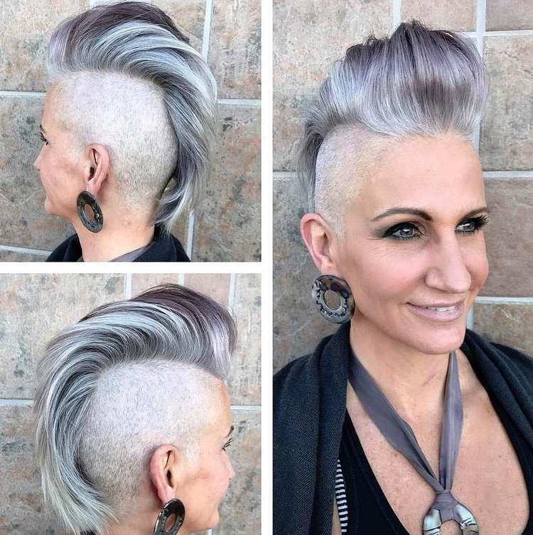 Frisuren Damen Graue Haare
