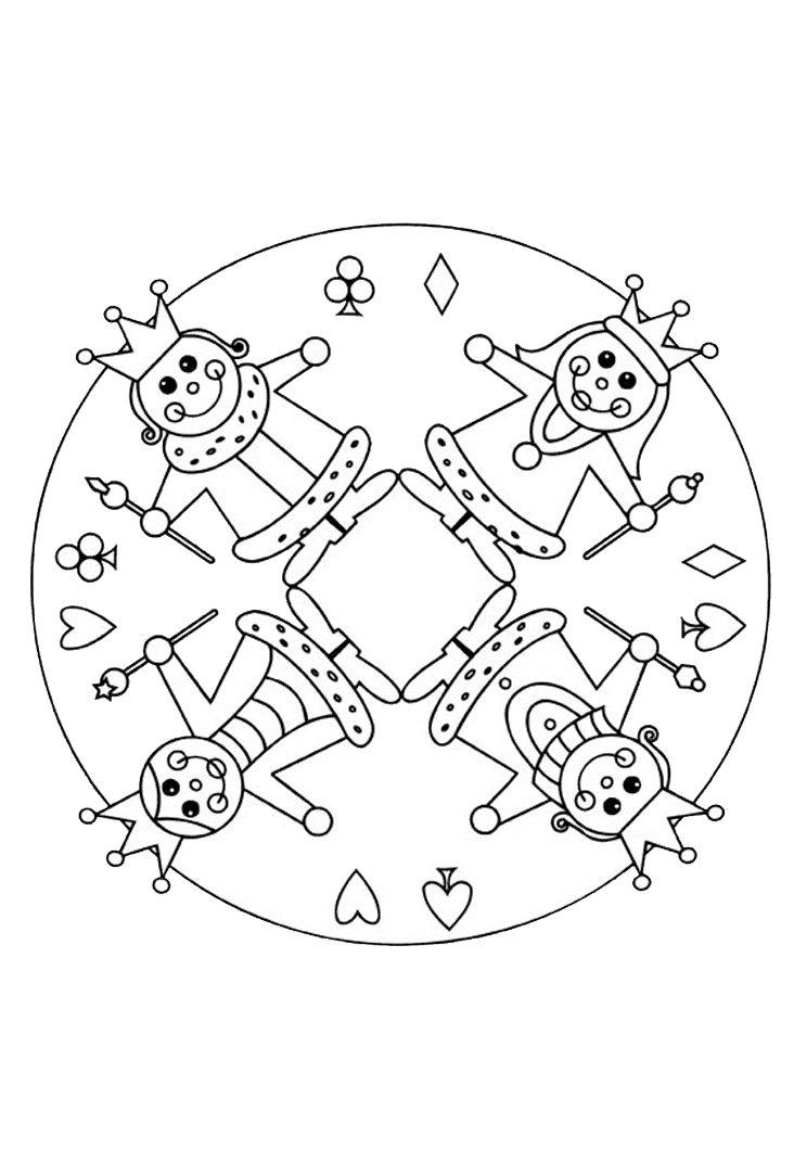 Mandala Zum Ausmalen Fasching Malen Nach Zahlen Kostenlos Frisch