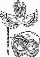 Malvorlagen Masken Fasching   Coloring and Malvorlagan