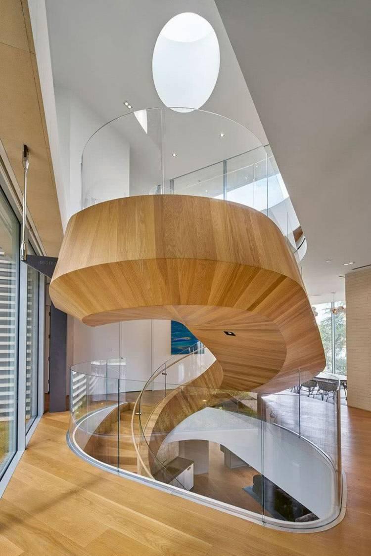 Wendeltreppe Innen Als Modernes Und Einzigartiges Gestaltungselement