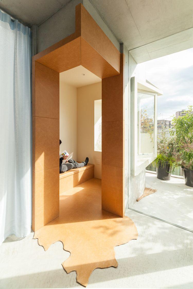 """Urbanes Grün Und Beton Prägen Das """"Tree-Ness"""" Wohngebäude In Tokio"""