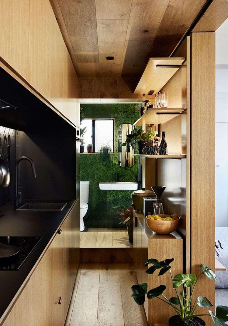 Mikro Wohnung einrichten  Weniger ist mehr in dieser Einzimmerwohnung