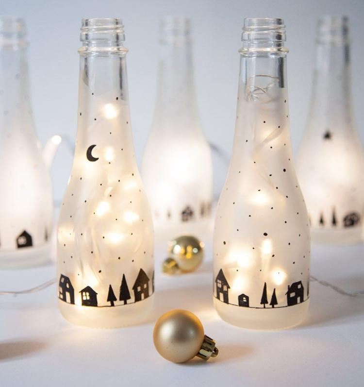 Weihnachtsdeko fr den Tisch basteln Schnelle DIYProjekte
