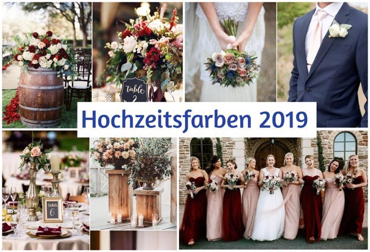 Hochzeit Farben 2019  Valentins Day