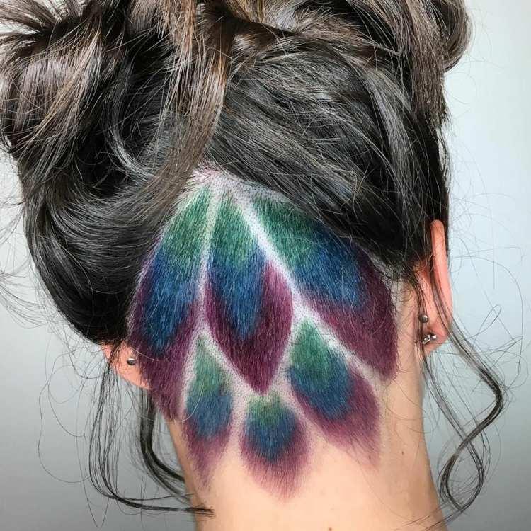 Undercut Frauen Muster Herz Frisuren Trend