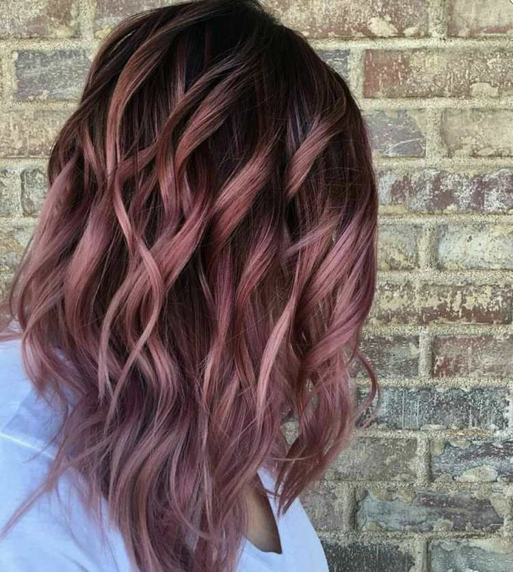 Haare rot kurze ombre Balayage und