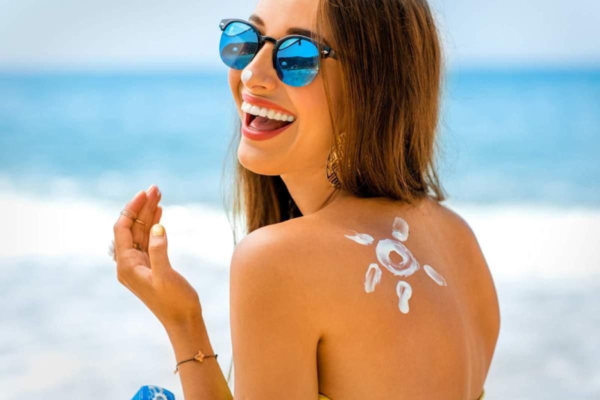 Skin care in summer sunburn