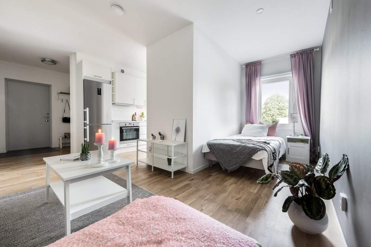 Einrichtungsbeispiele Wohn Schlafzimmer   1 Zimmer Wohnung ...