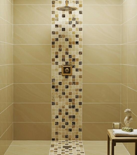 le carrelage de la salle de bains