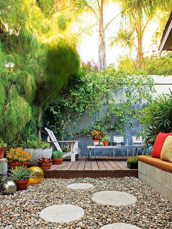 deco terrasse idee pas cher facile nature chaise longue. Black Bedroom Furniture Sets. Home Design Ideas