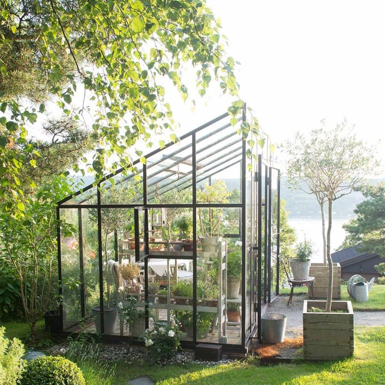Design Exterieur Jardin Deco Serre Jardin Verre Plantes | Moregs