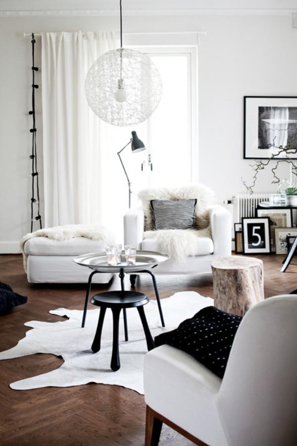 Salon moderne en blanc  37 ide de design et dcoration