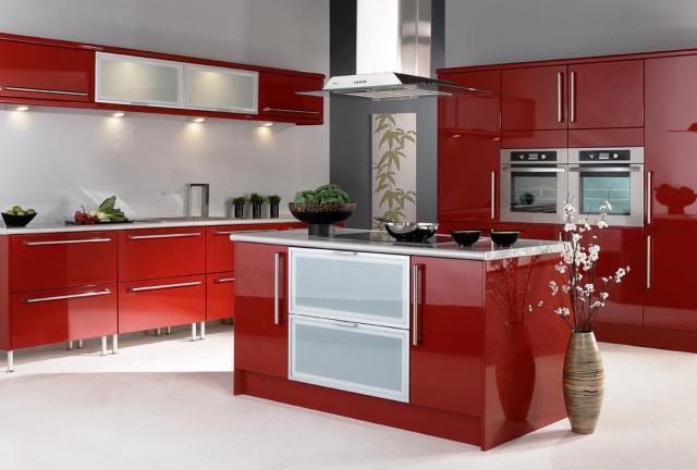 amenagement de cuisine en rouge 23