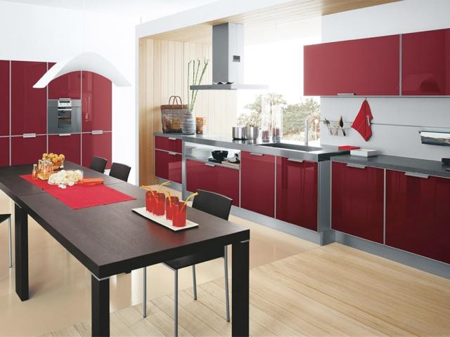Amnagement De Cuisine En Rouge 23 Ides Votre Maison