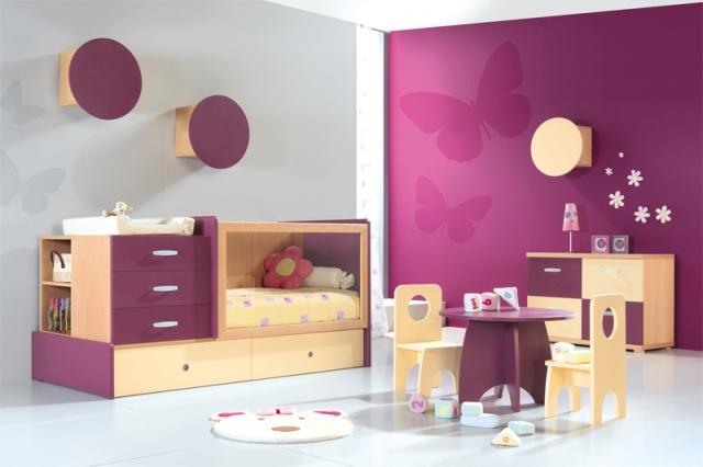Deco Papillon Chambre Fille. Beautiful Stickers Papillons D Mauve ...