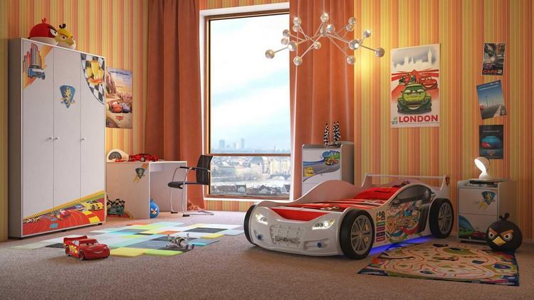 Dco chambre garon  27 ides originales thme voiture