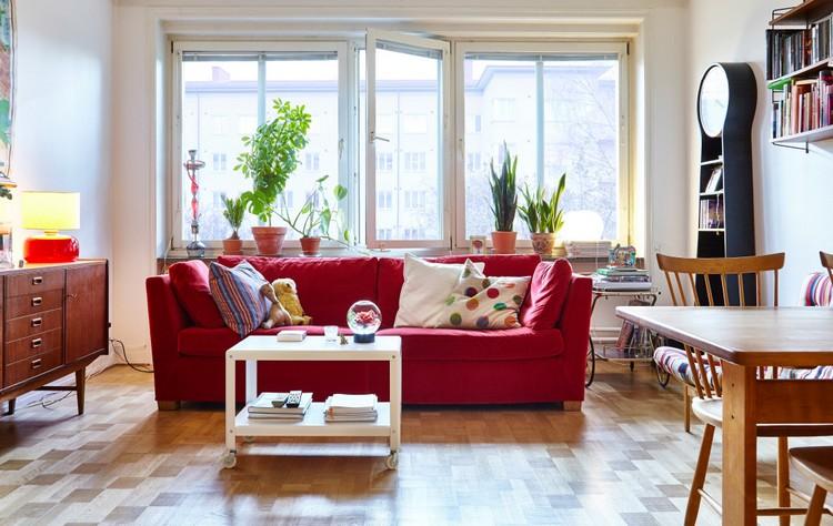 Ide dco salon en rouge  30 photos sympas embellir espace