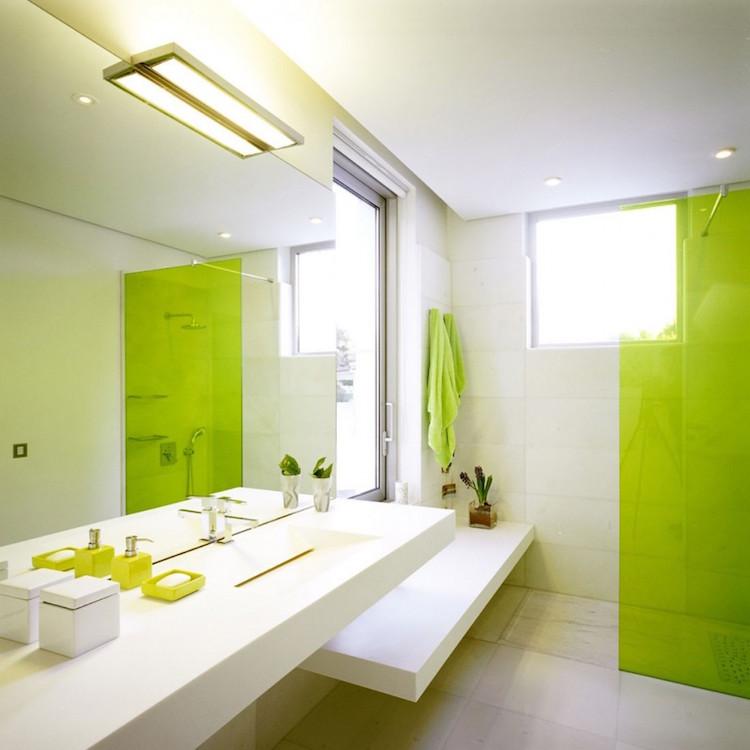 idees salle de bain en vert 25 designs
