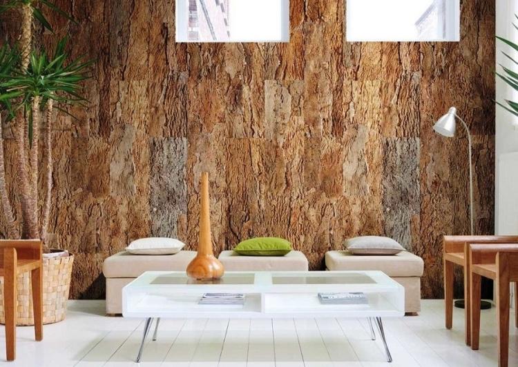 papiers peints aspect bois et