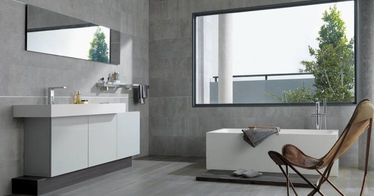 salle de bain grise 30 idees sympas