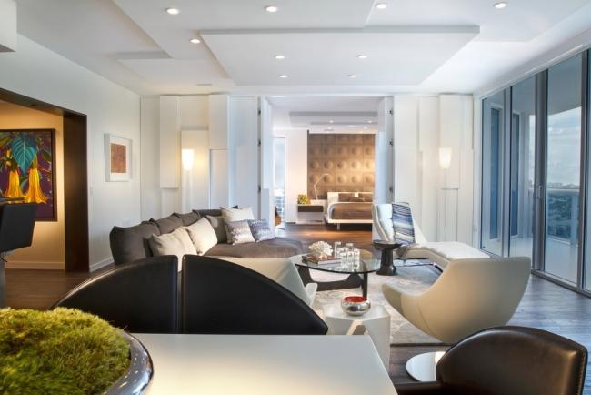 Plafond moderne chambre et salon  la dco en placoplatre fait chavirer