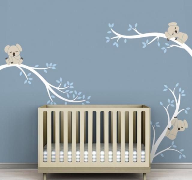 Chambre bb arbre top sticker chambre bebe arbre achat - Decoration murale bebe ...